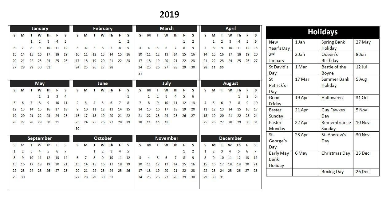 Get Printable Calendar Uk