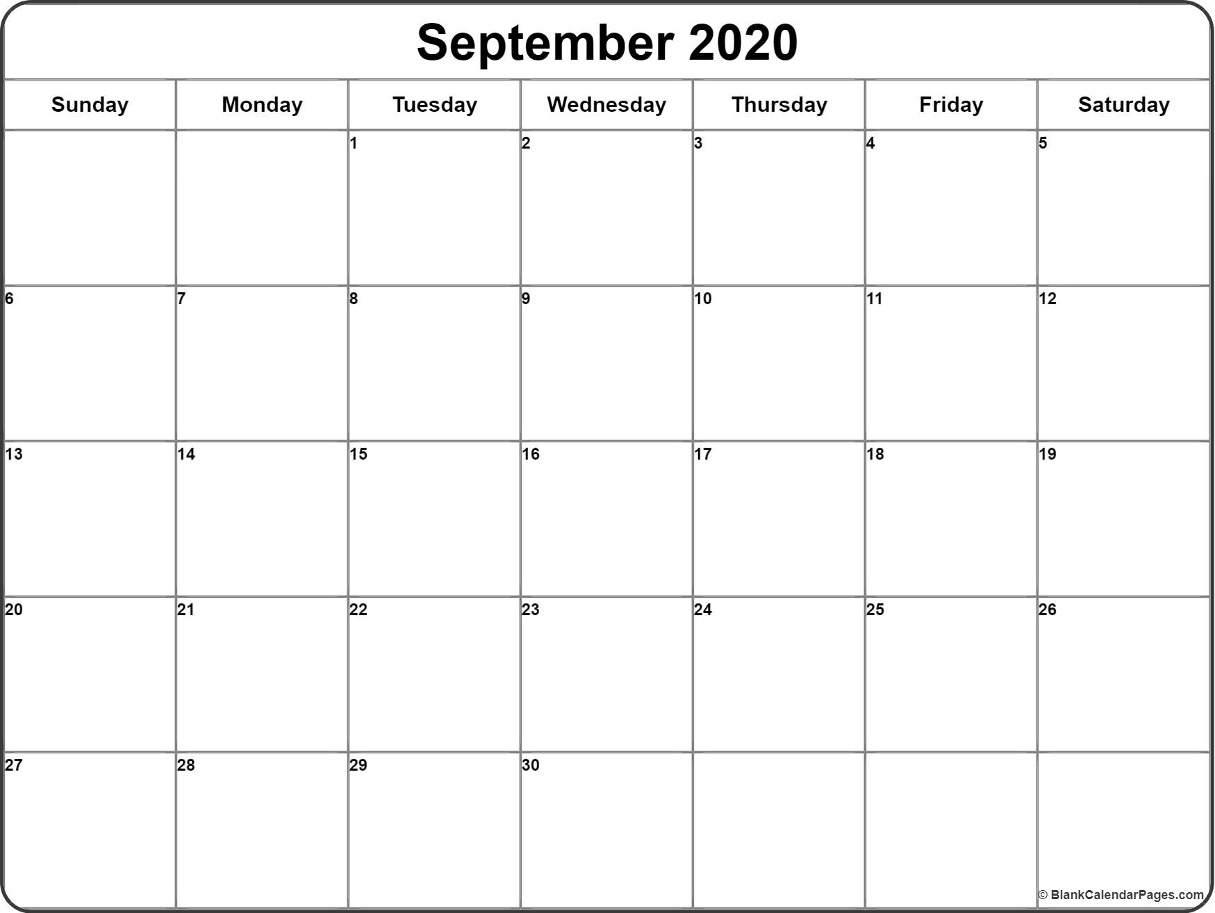 Get Printable Calendar With Writing Space