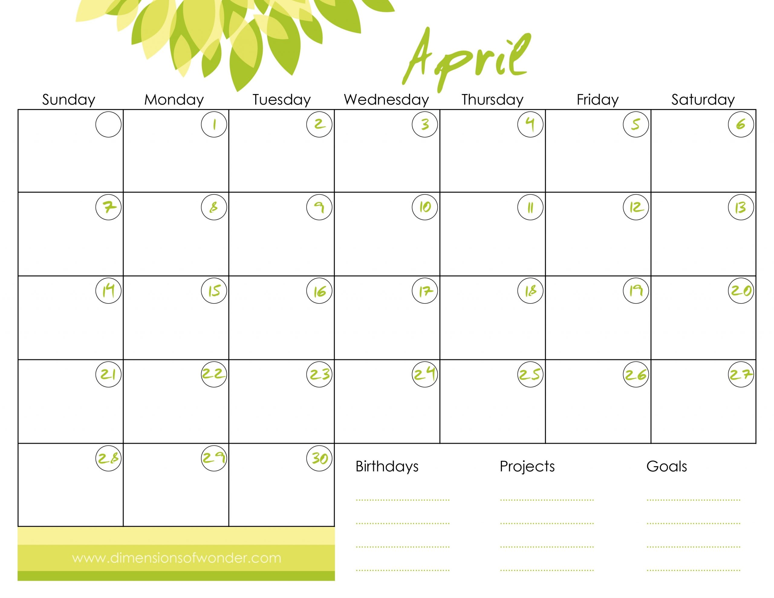 Get Printable Calendar Without Download
