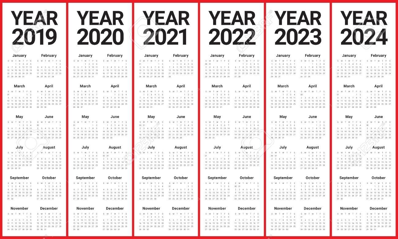 Get Printable Calendars 2021 2022 2023 2024