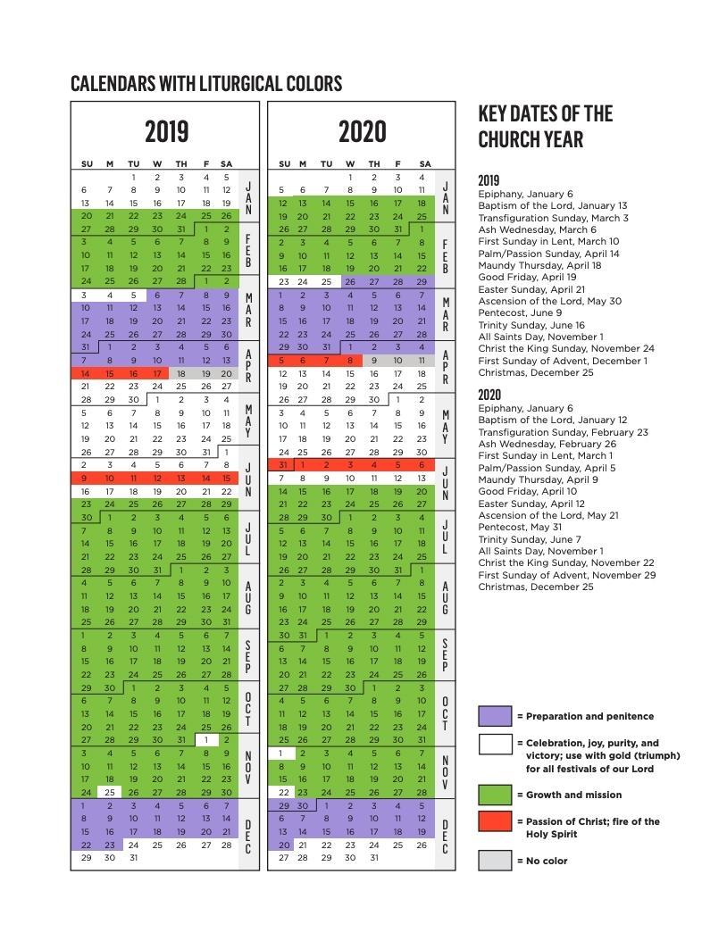 Get Printable Liturgical Calendar 2021