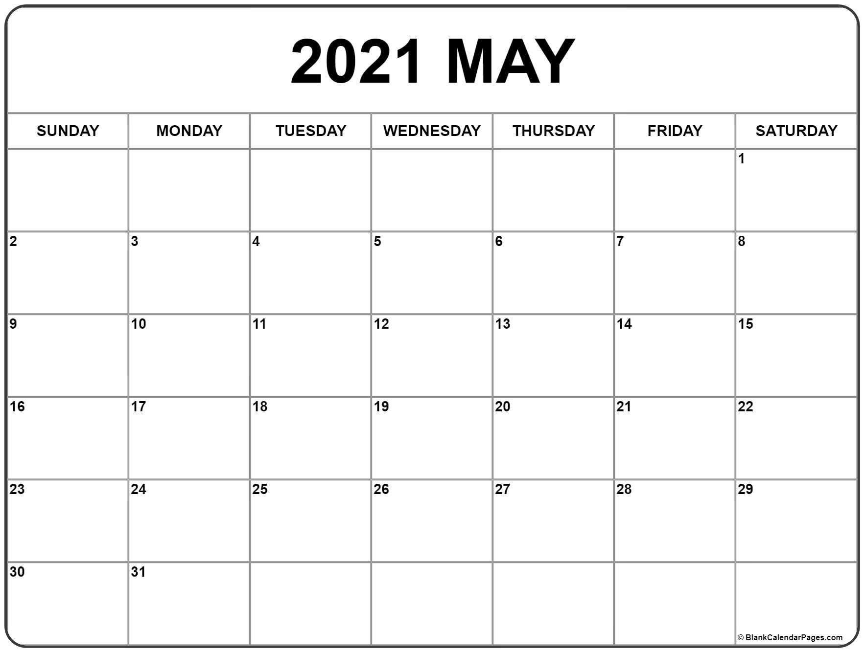 Get Printable Monthly Calendar 2021