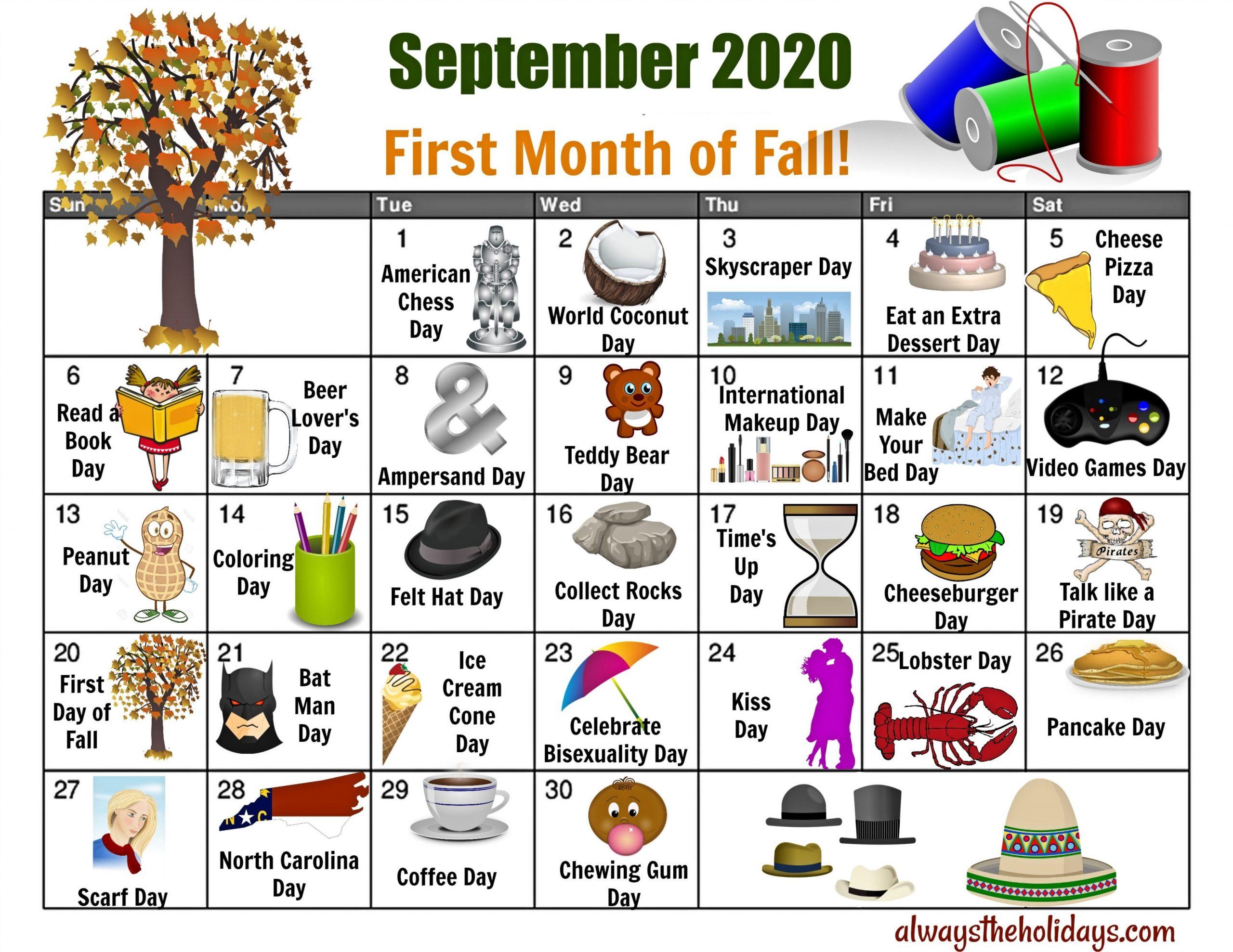 Get Printable National Day Calendar 2021