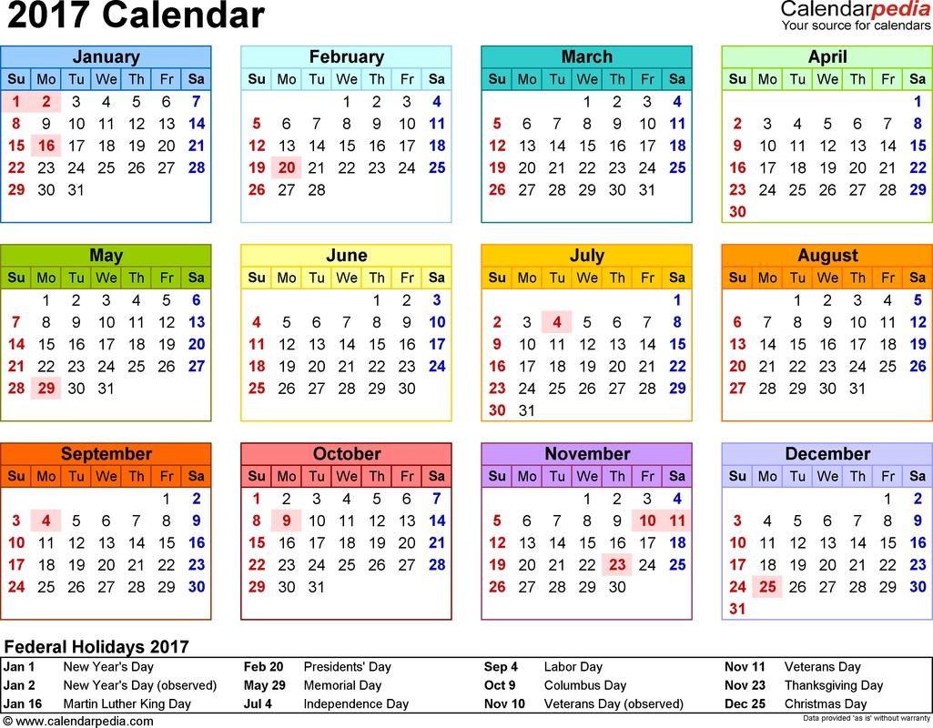 Get Printable Pocket Calendars Online