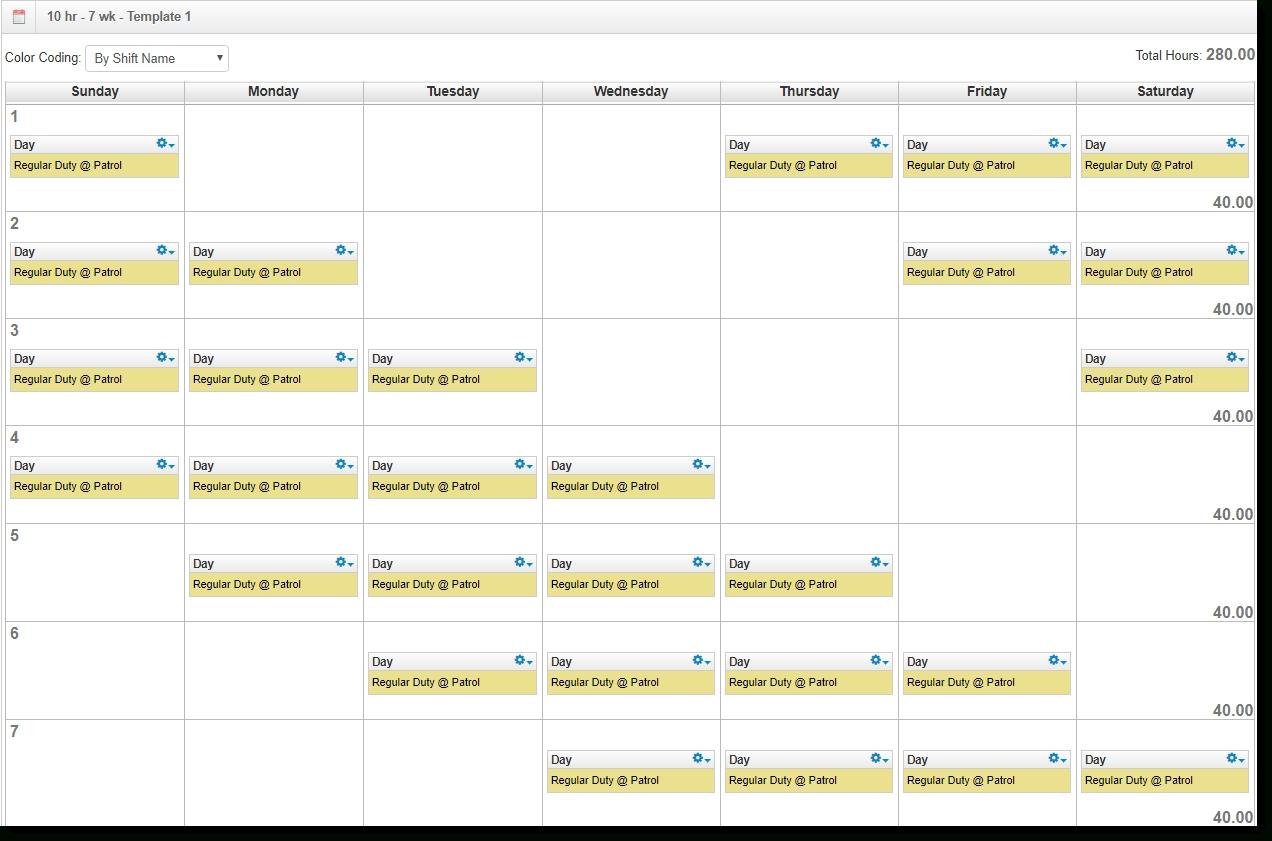Get Sample 12 Hour Weekend Schedule