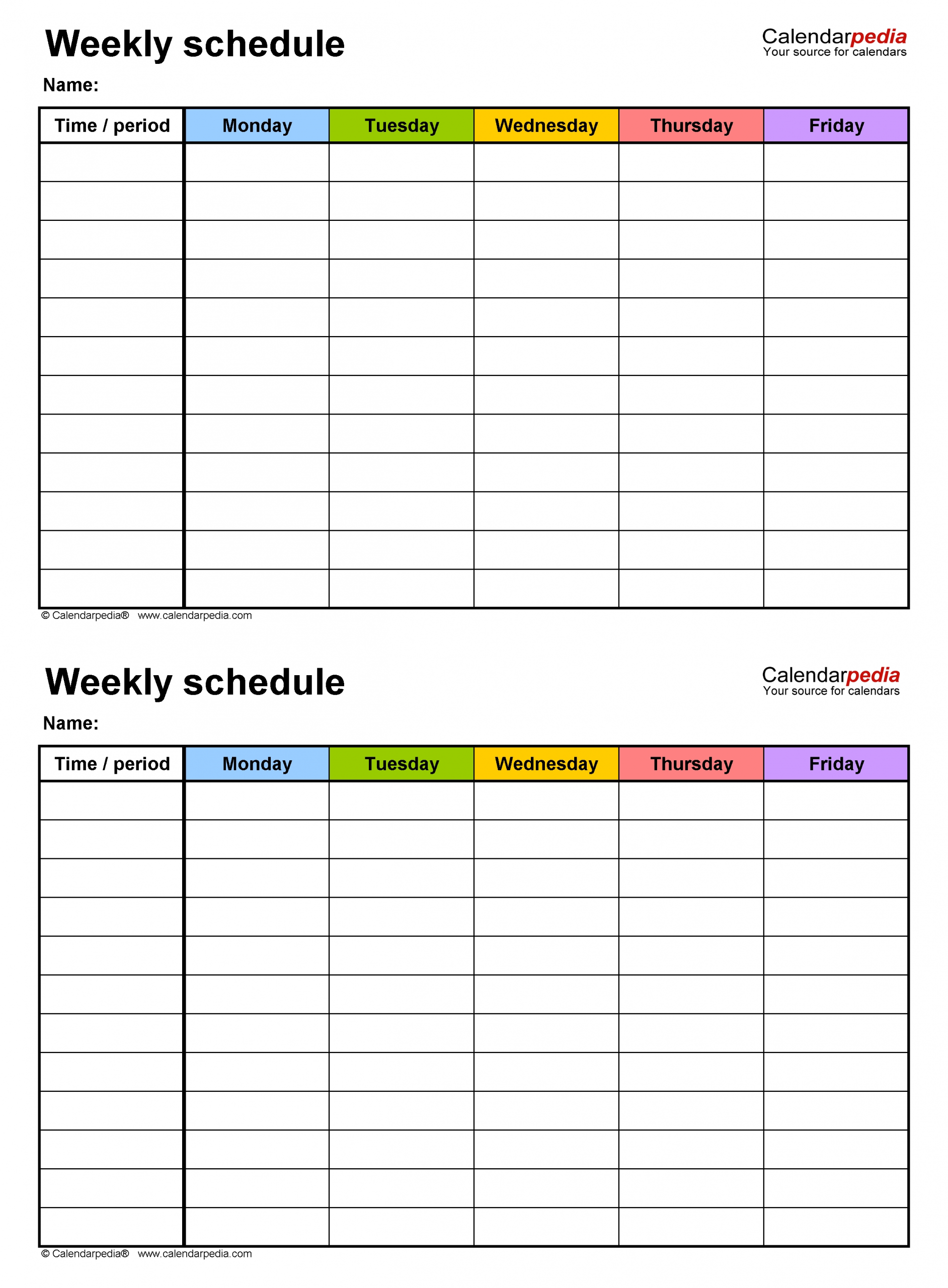 Get Schedule For 4 People 6 Tasks Monday To Friday