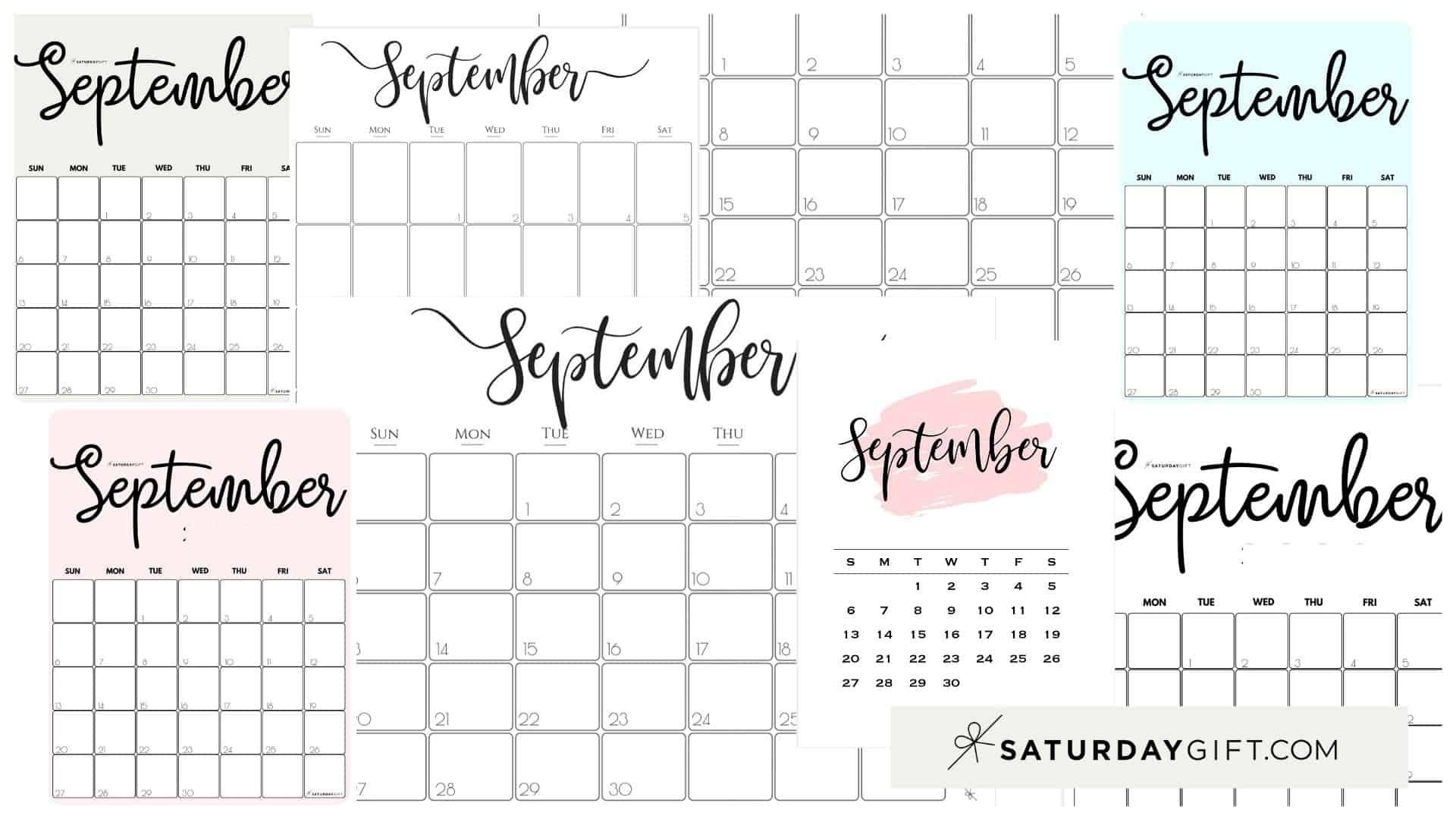 Get September 2021 Printable Desk Calendar