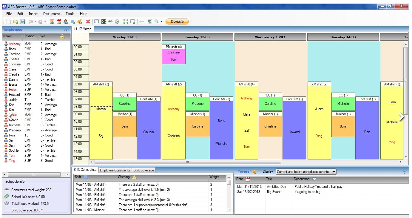 Get Single Page Abc Shift Calendar