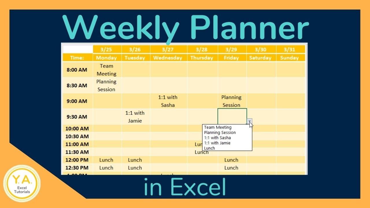 Get Time Slot Schedule Excel