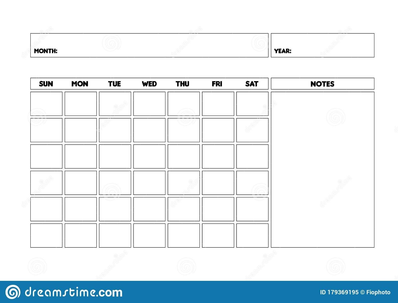 Get Undated Calendar Month