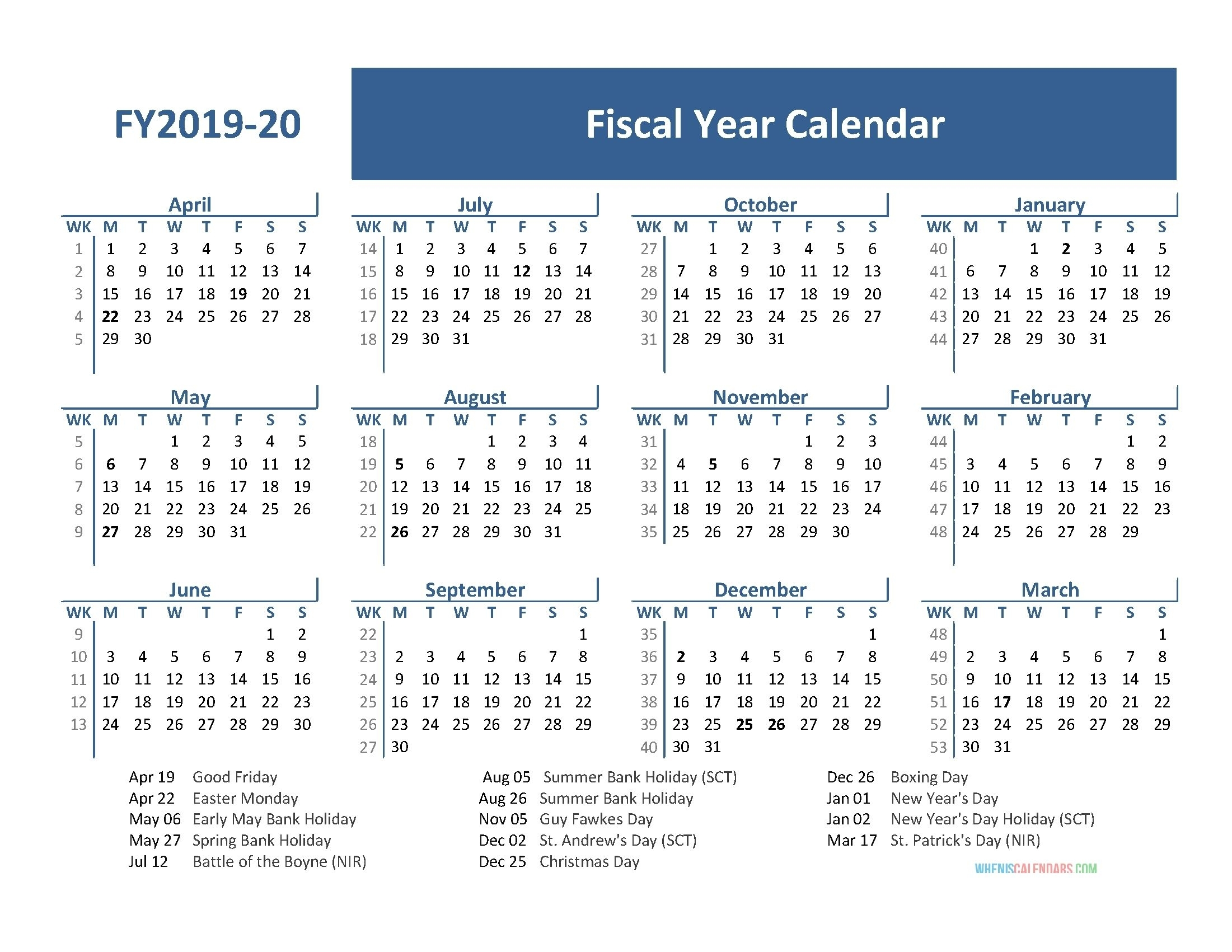 Get Week 19 Of Fiscal Year Date