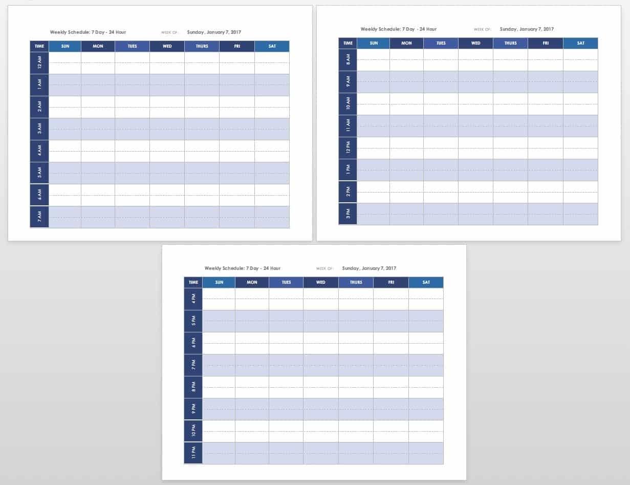 Get Week Calendar Printable Am Pm