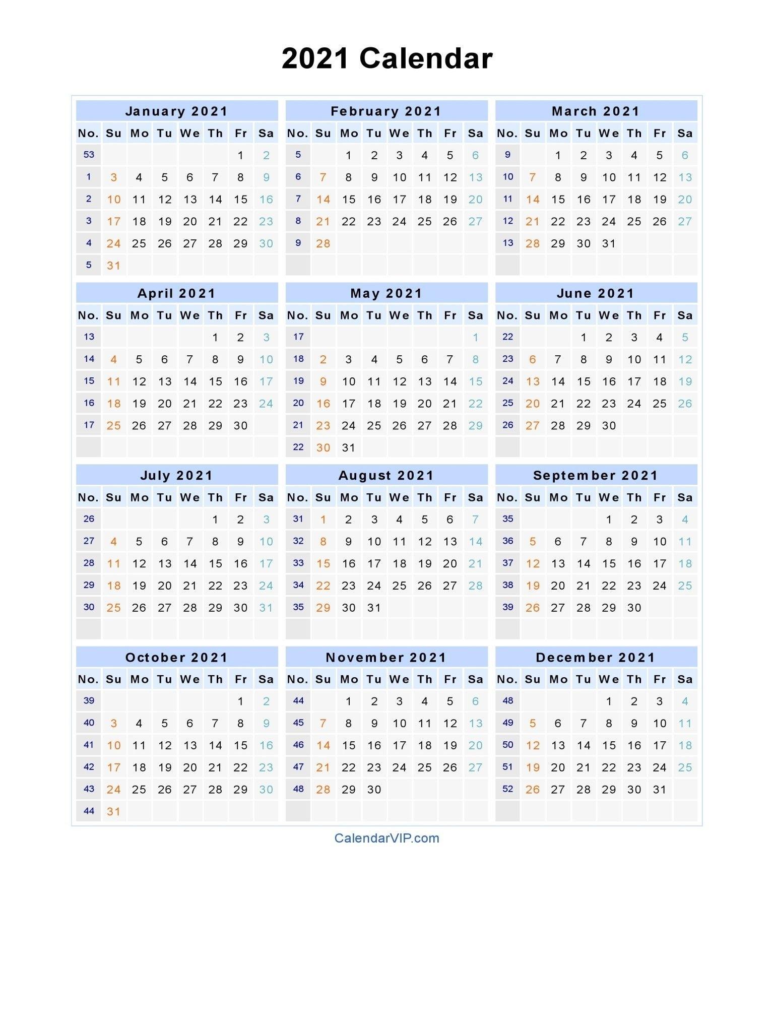 Get Week Numbers 2021 Financial Year