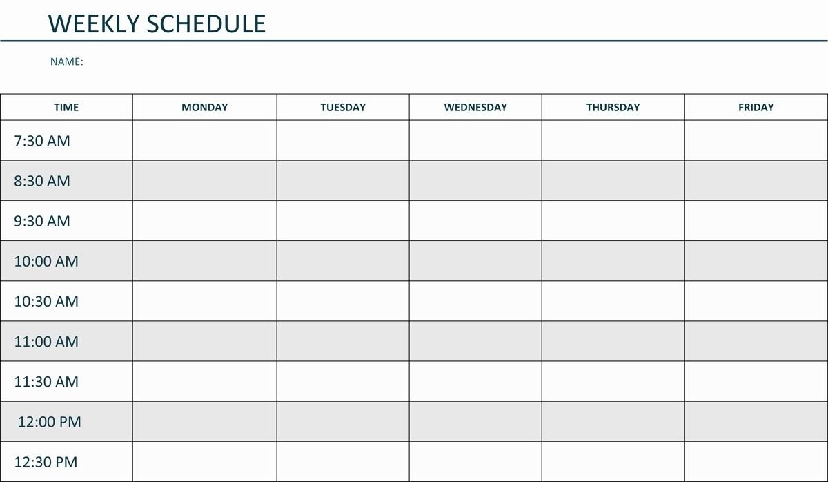 Get Weekly Am Pm Schedule Calendar