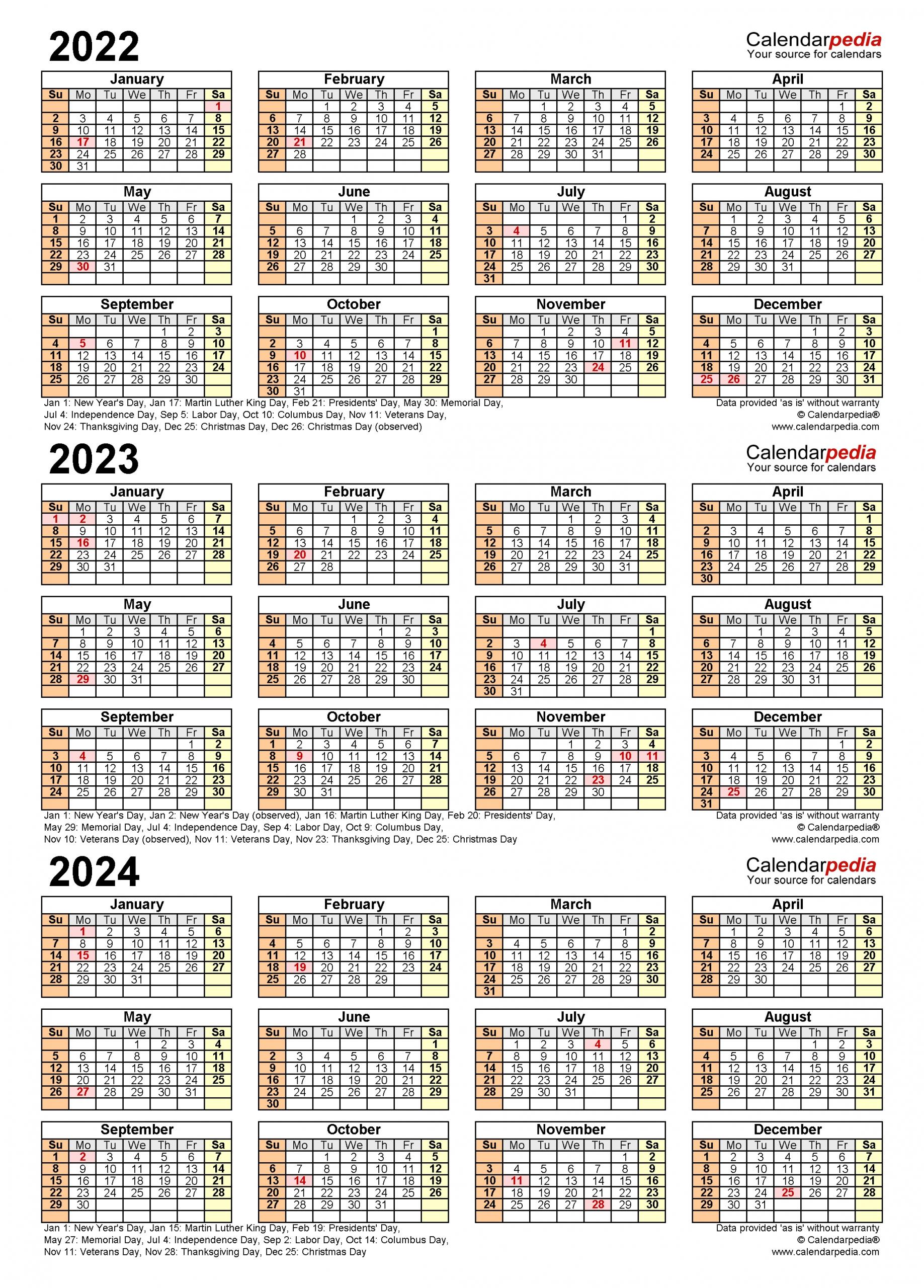 Get Year Overview 2021 Thru 2024