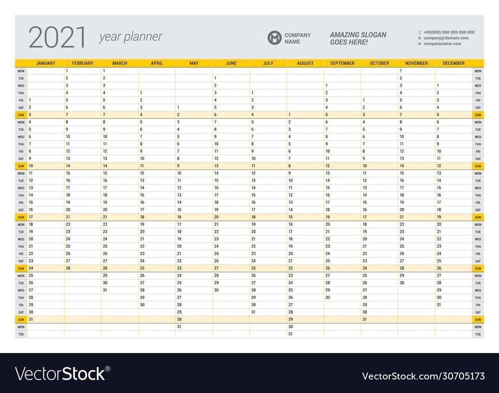 Get Year Planner 2021