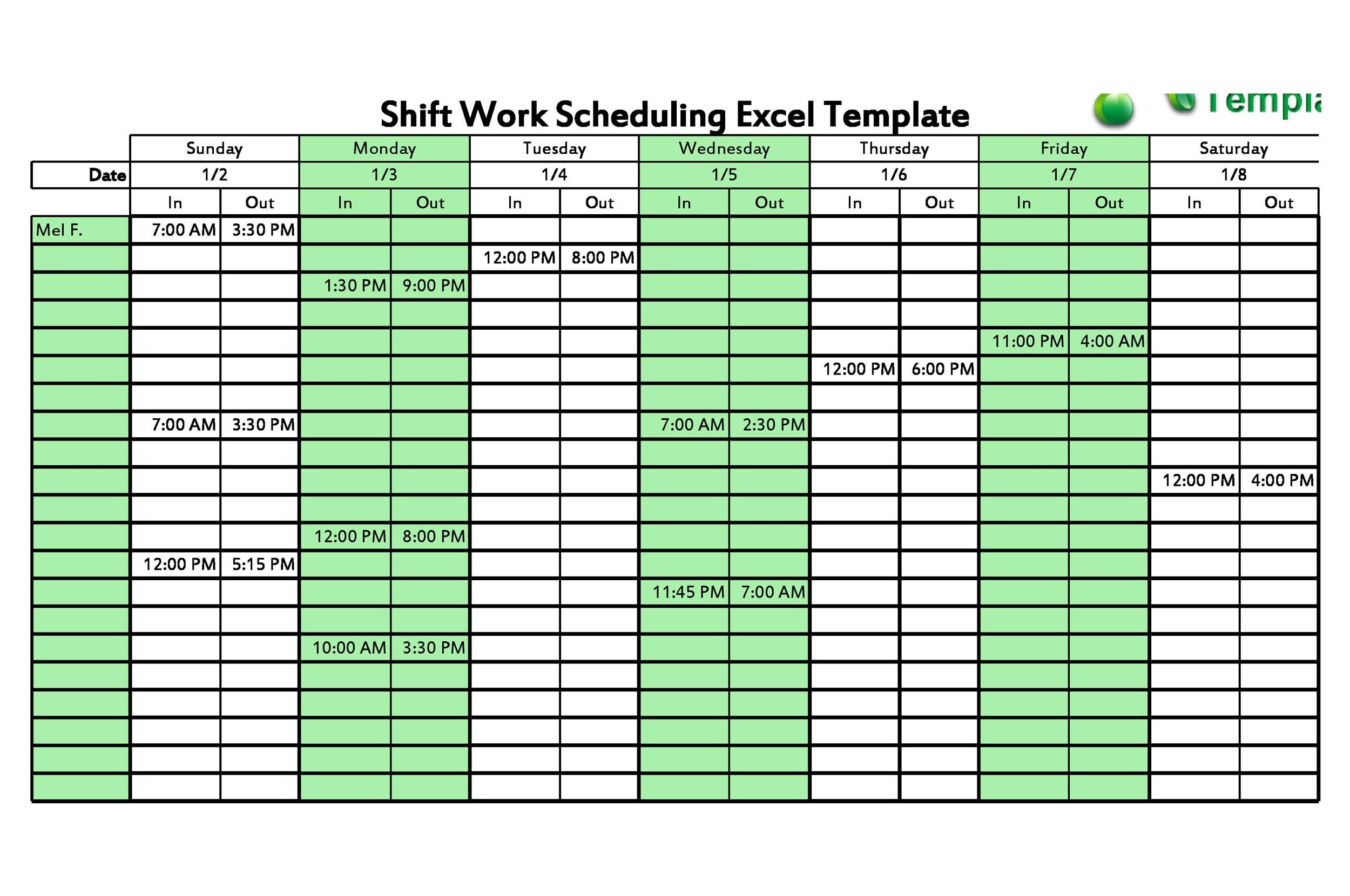 Pick 12 Hour Shift Schedule Free