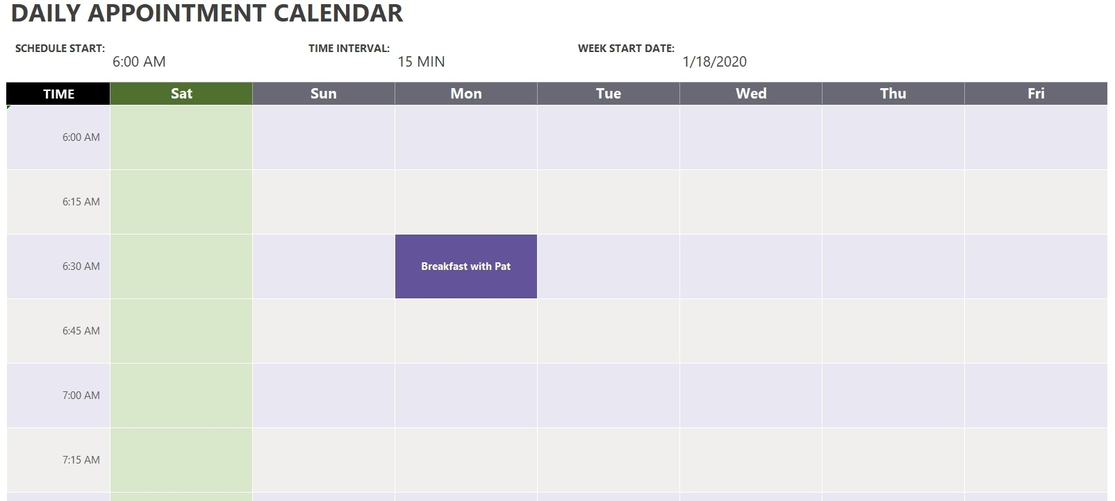 Pick 15 Minute Spreadsheet