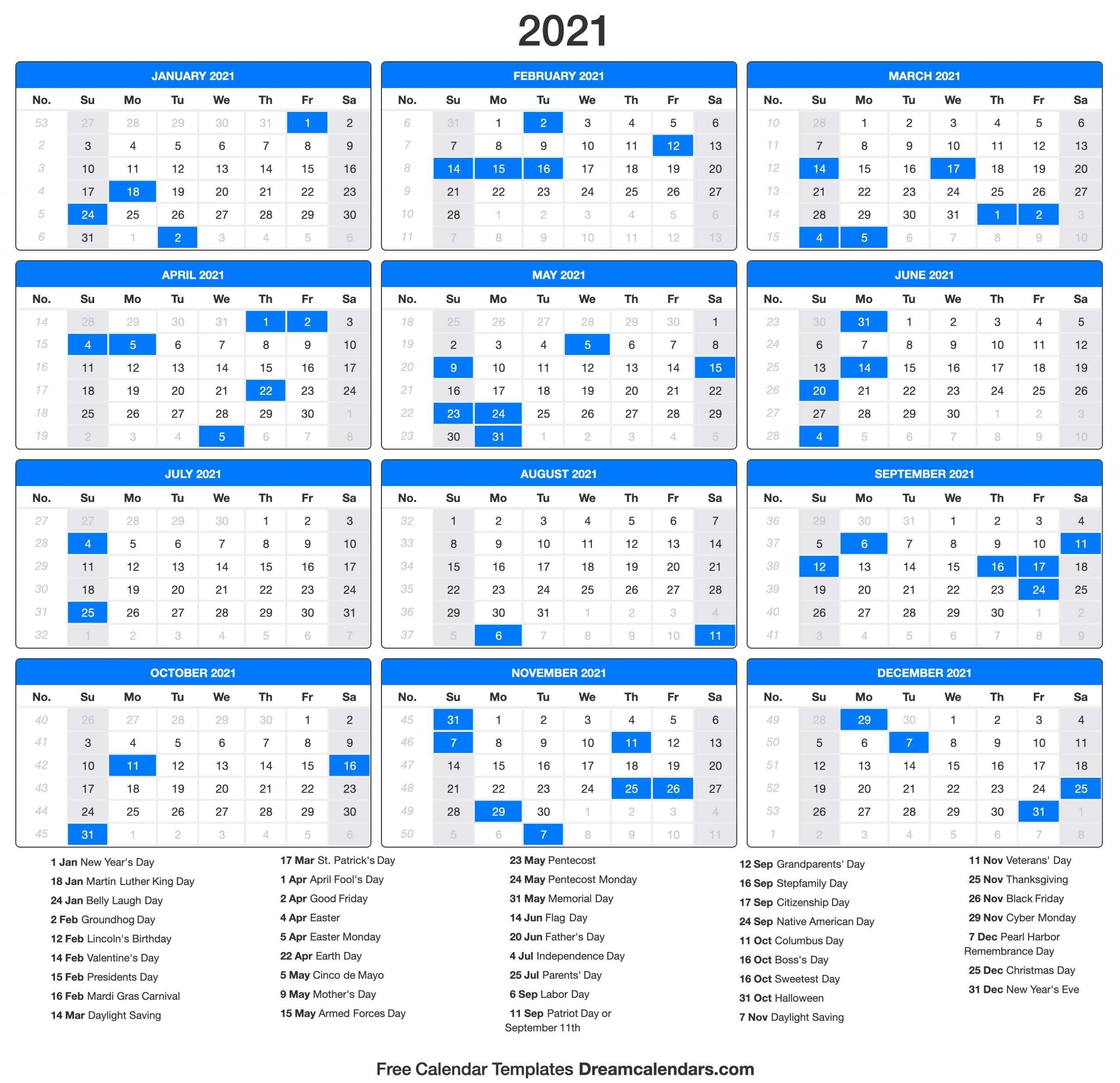 Pick 2021 Calendar 2021