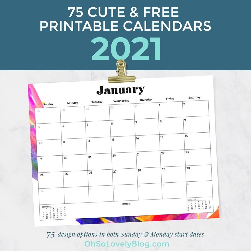 Pick 2021 Calendar Design Pick