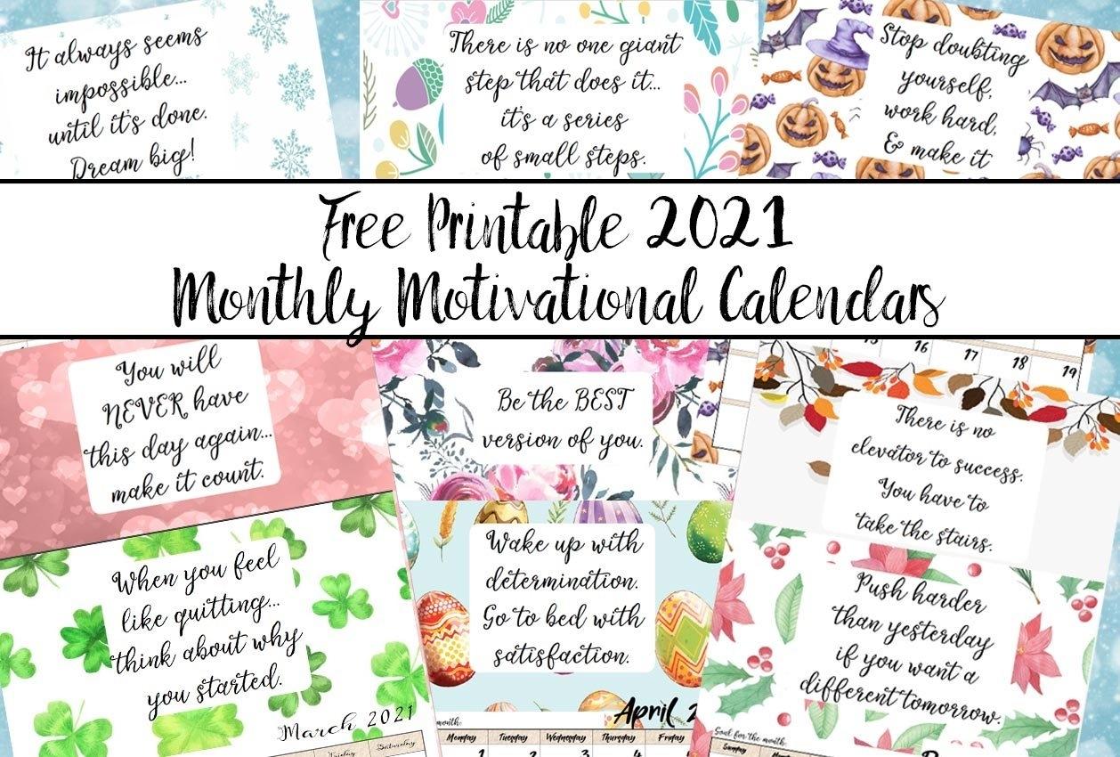 Pick 2021 Calendar Free Printable By Month