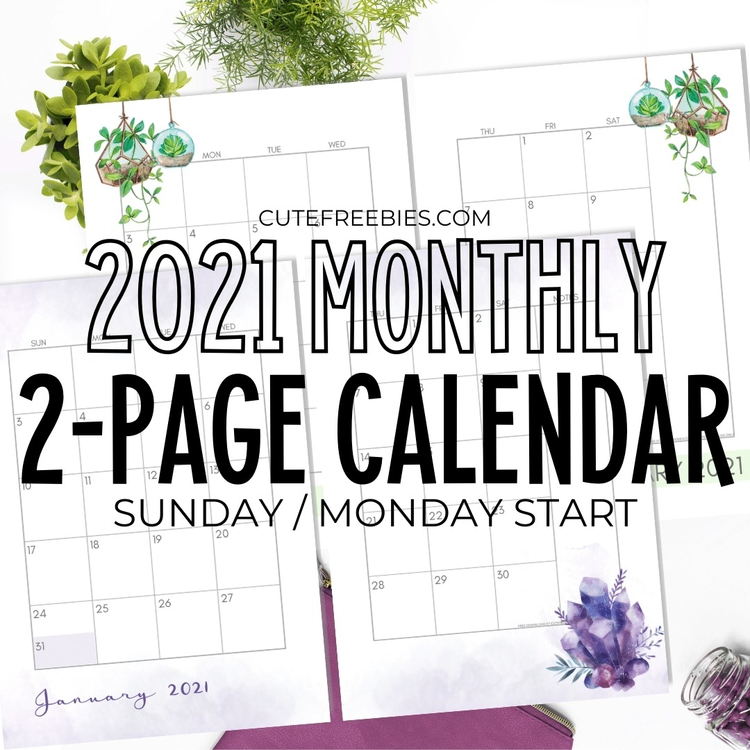 Pick 2021 Calendar Month By Month Free Printable