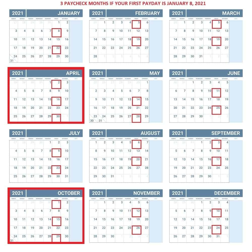 Pick 2021 Calendar With Pay Periods