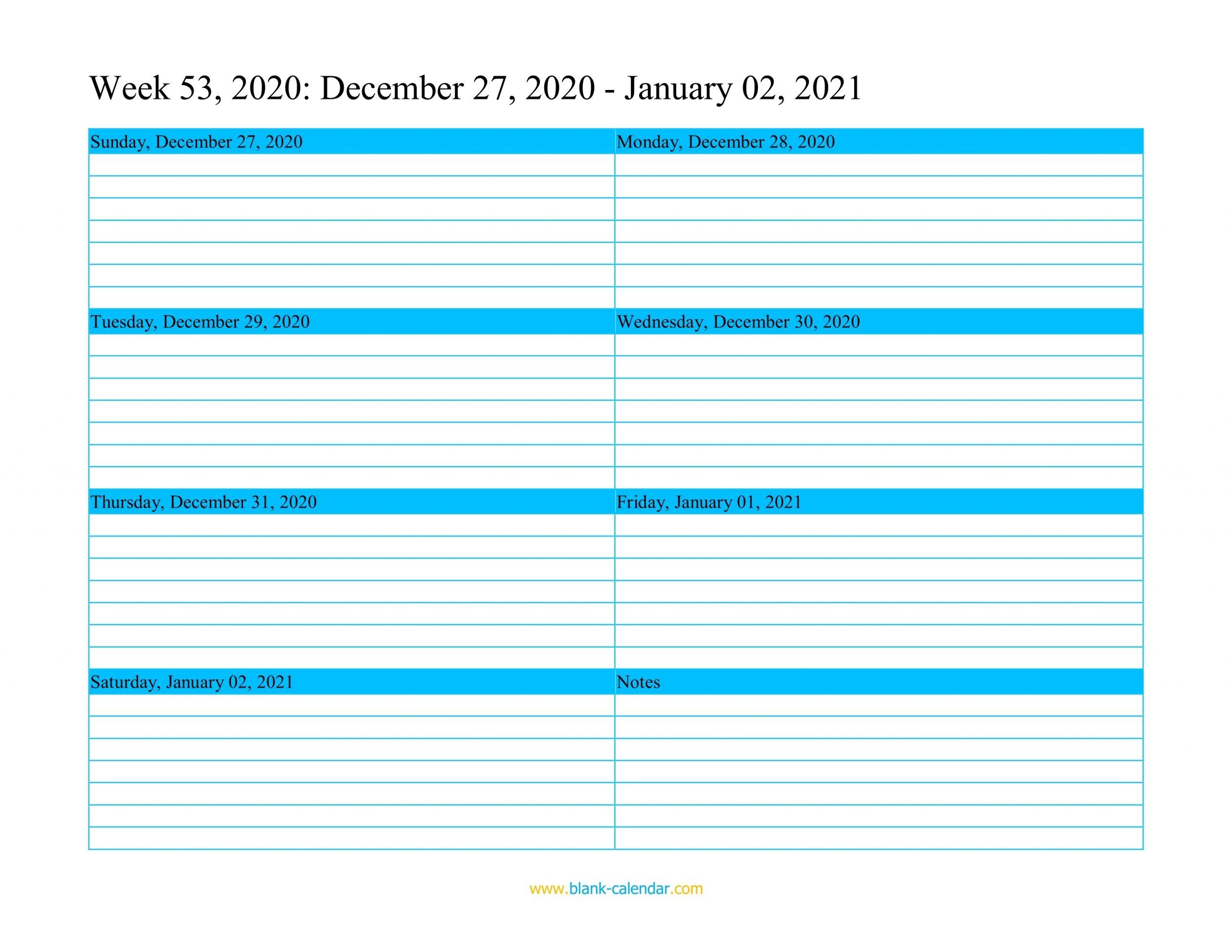 Pick 2021 Week Dates Excel