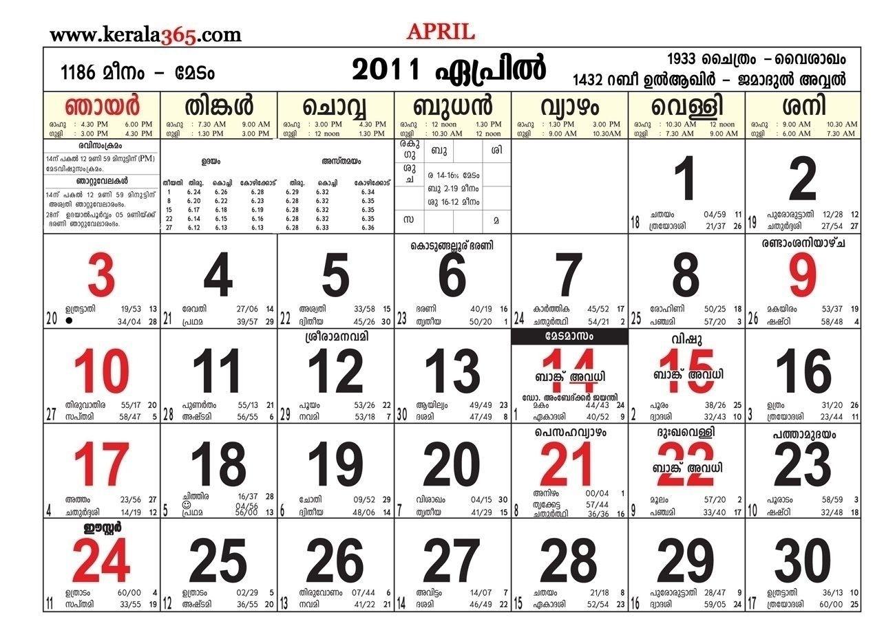 Pick 28 August 2021 Malayalam Calendar