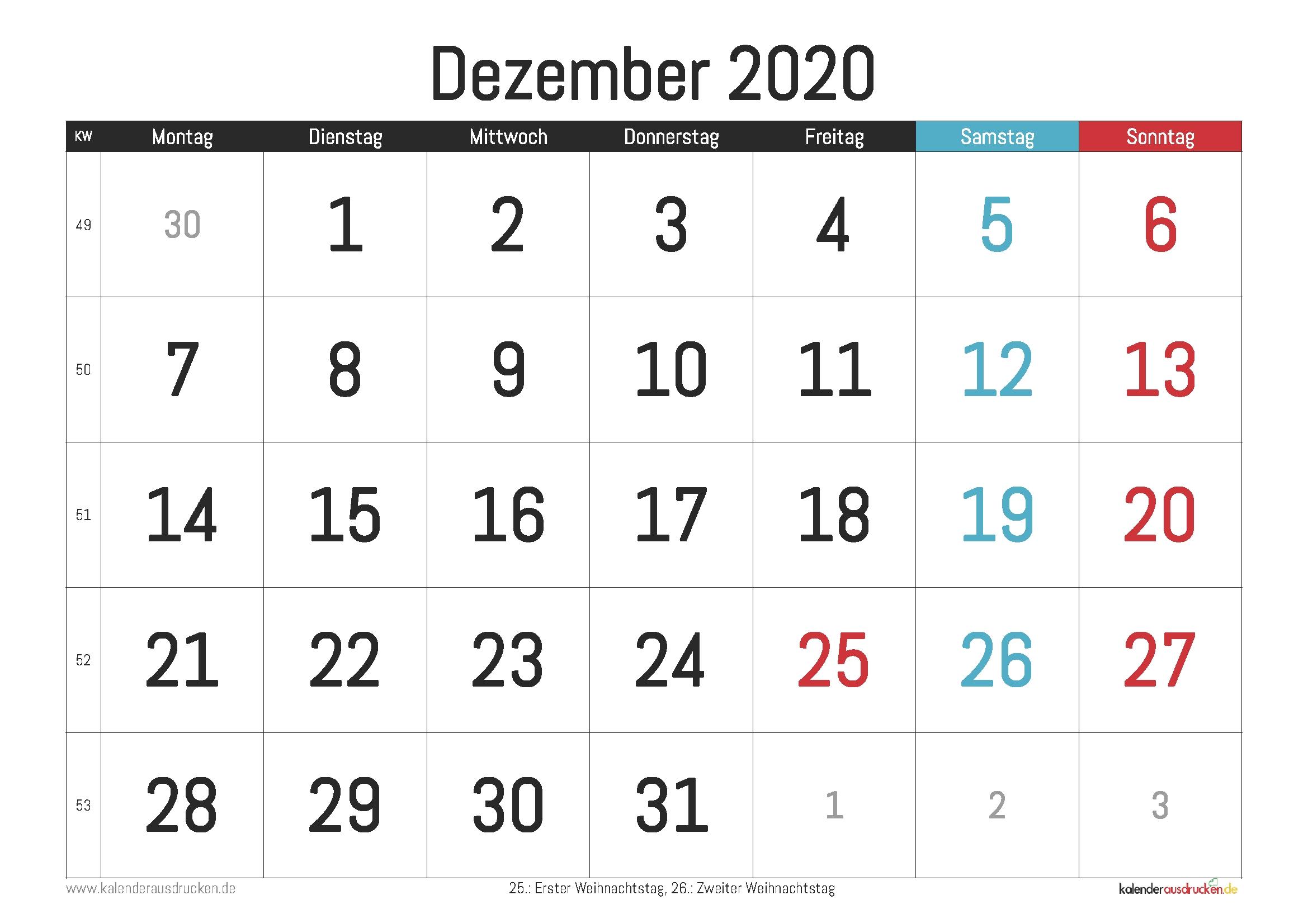Pick 3 Monatskalender 2021 Zum Ausdrucken