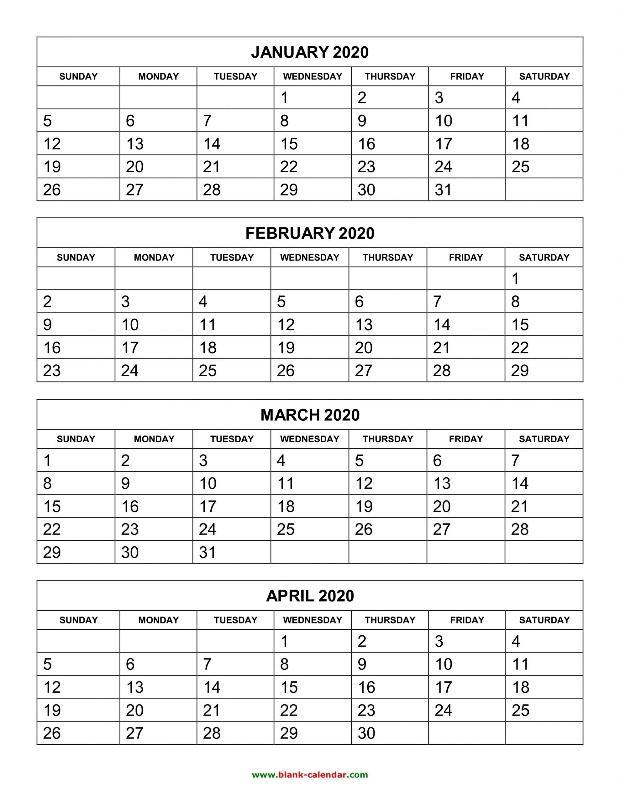 Pick 3 Month Calendar Template
