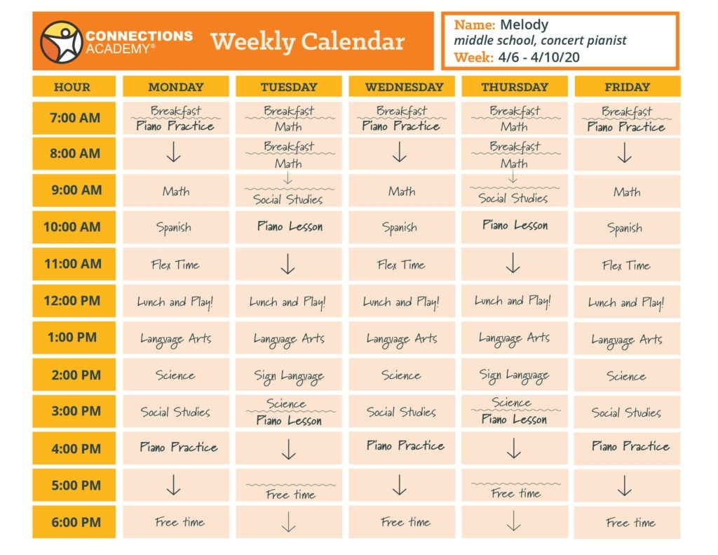 Pick 5 Day School Timetable