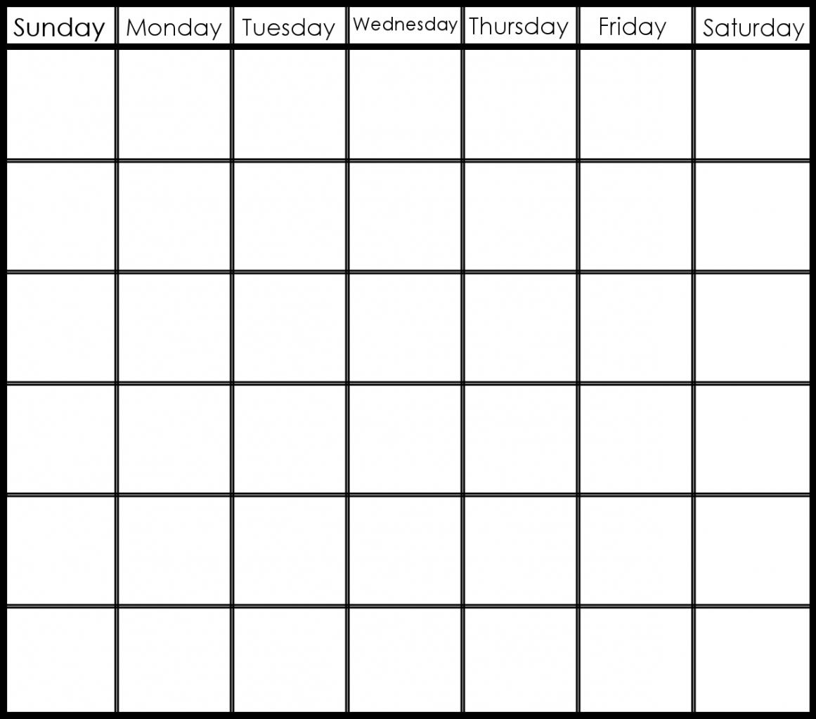 Pick 6 Week Blank Calendar