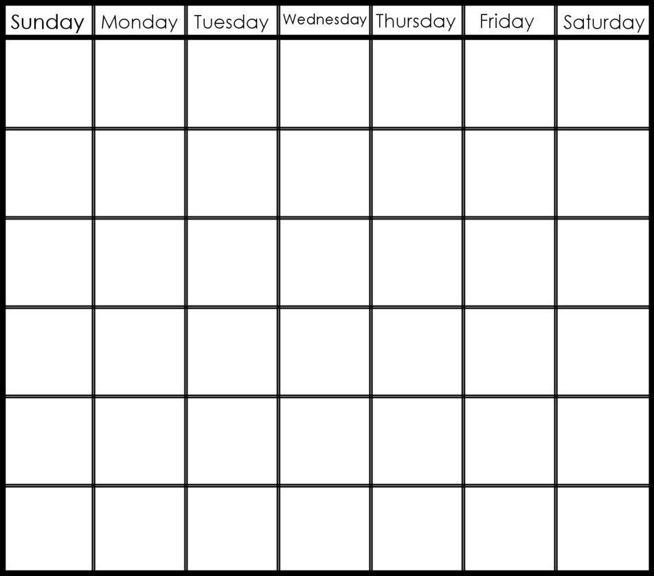 Pick 6 Week Blank Schedule Printable