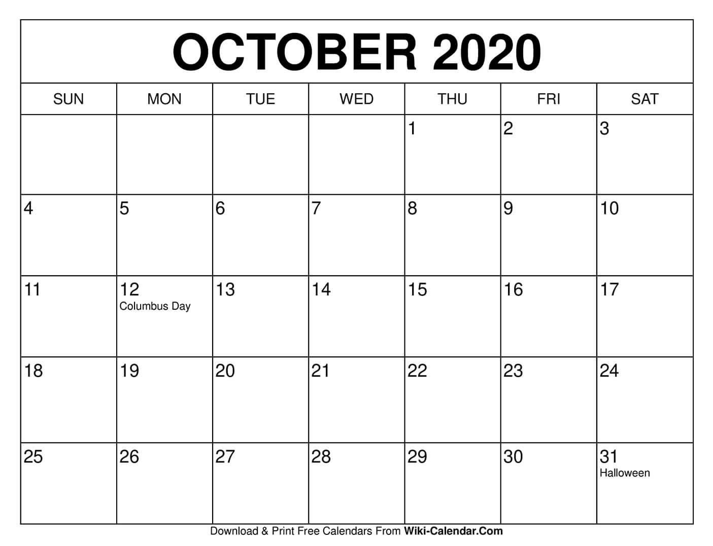 Pick 8.5 X 11 October 2021 Calendar