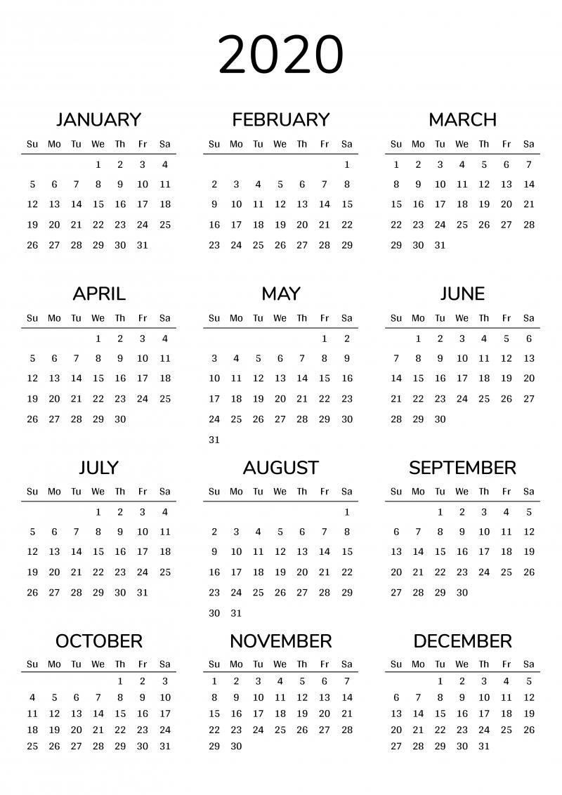 Pick 8 By 11 Printable Calendar 2021