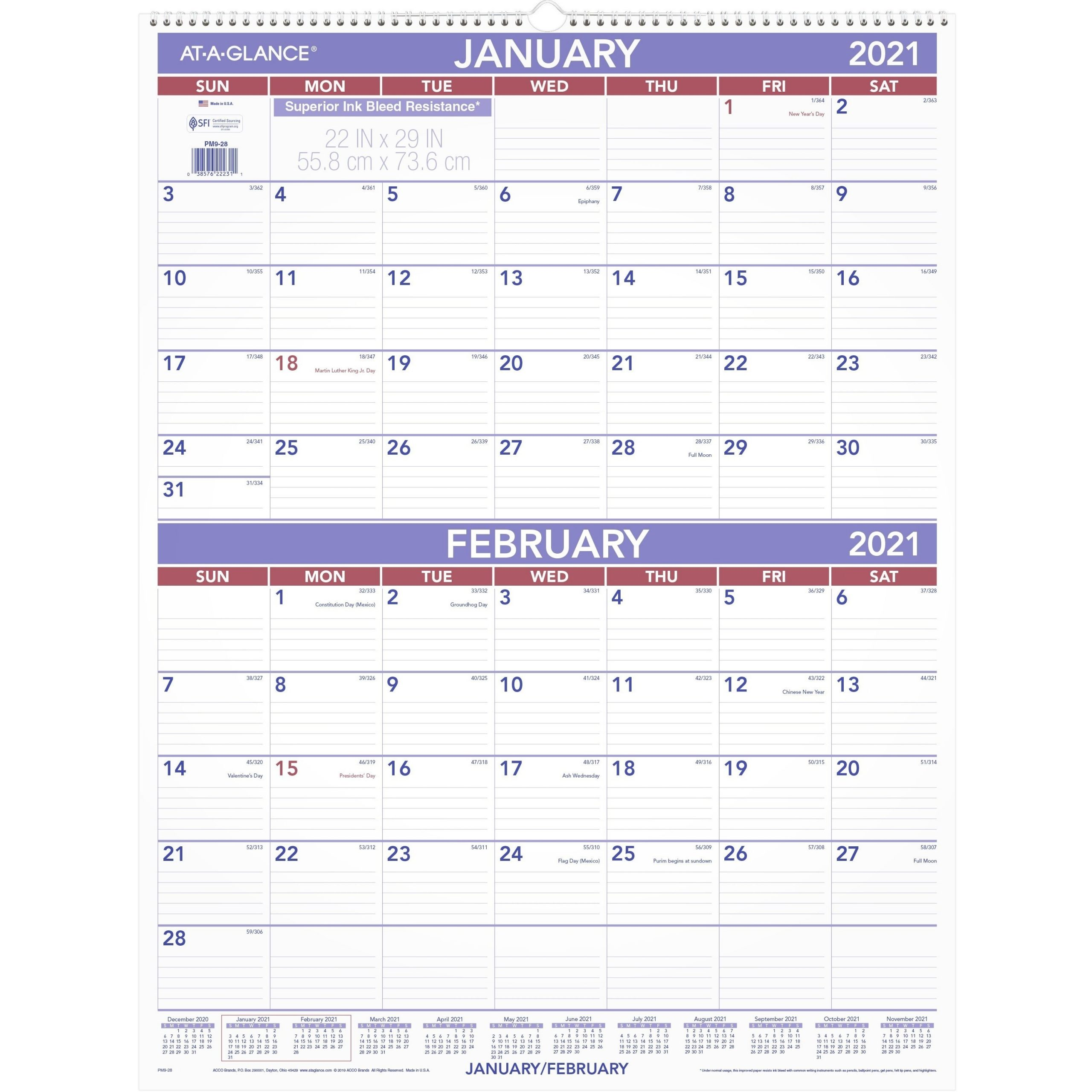 Pick A Month At A Glance December
