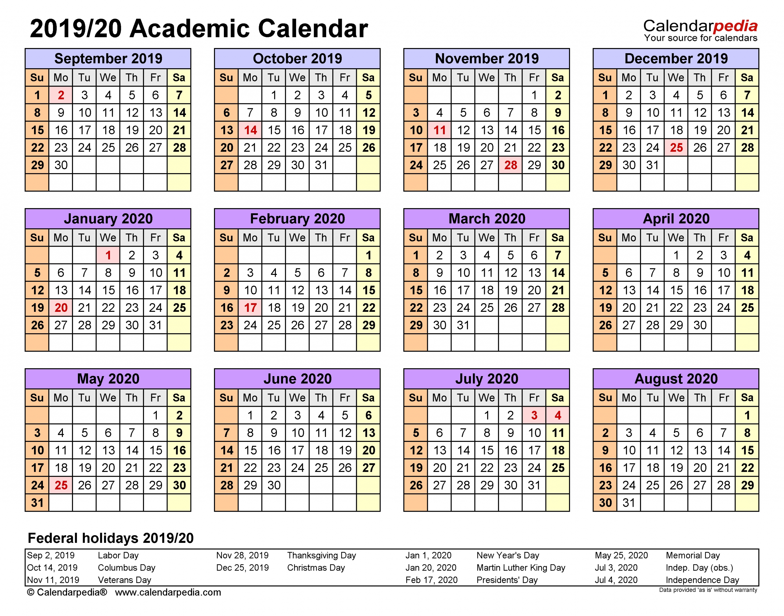 Pick Academic Calendar With Space In Dates