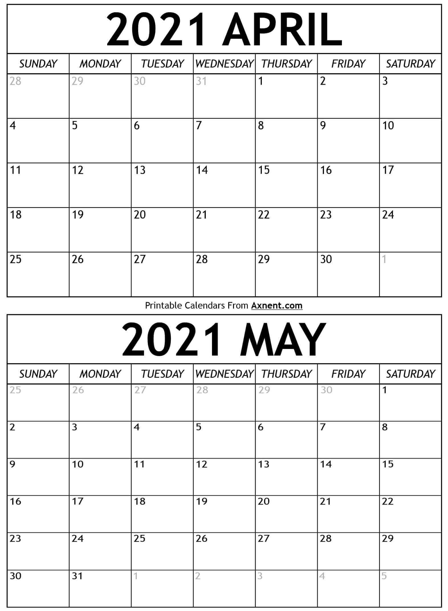 Pick April May 2021