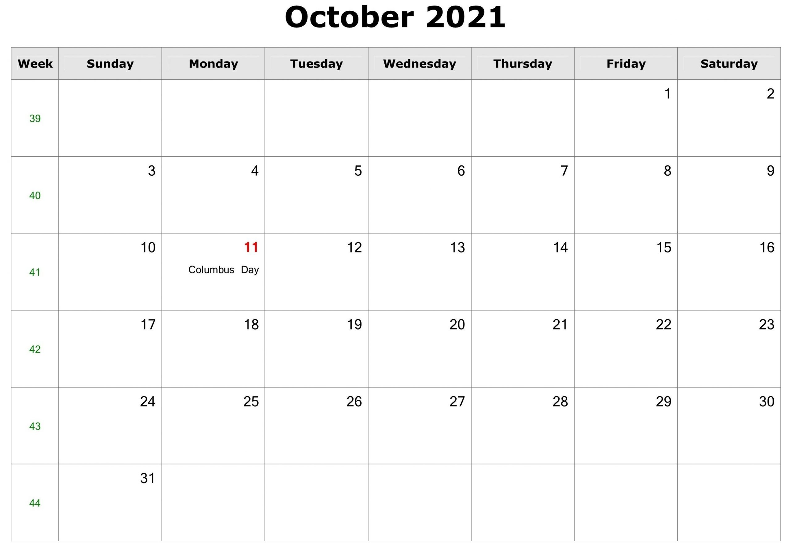 Pick August Through To October 2021 Editable Calendar