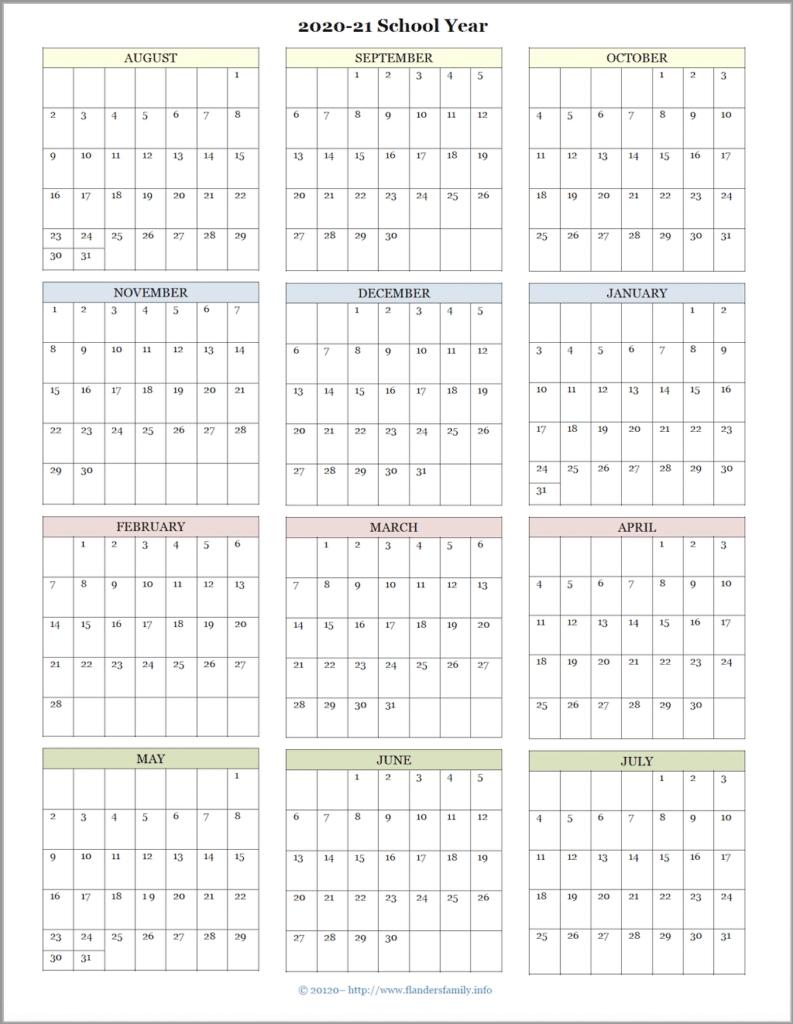 Pick Back To School August 2021 Calendar