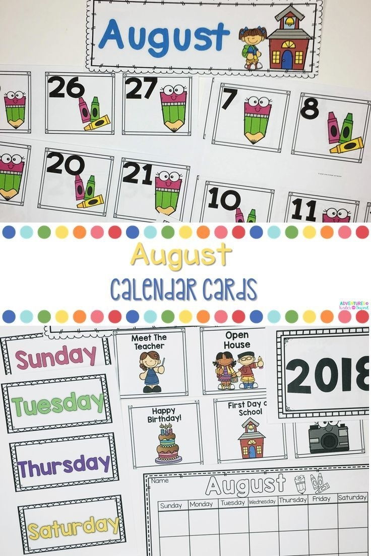 Pick Back To School August Calander