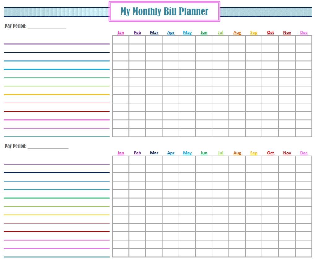 Pick Bill Calendar Template