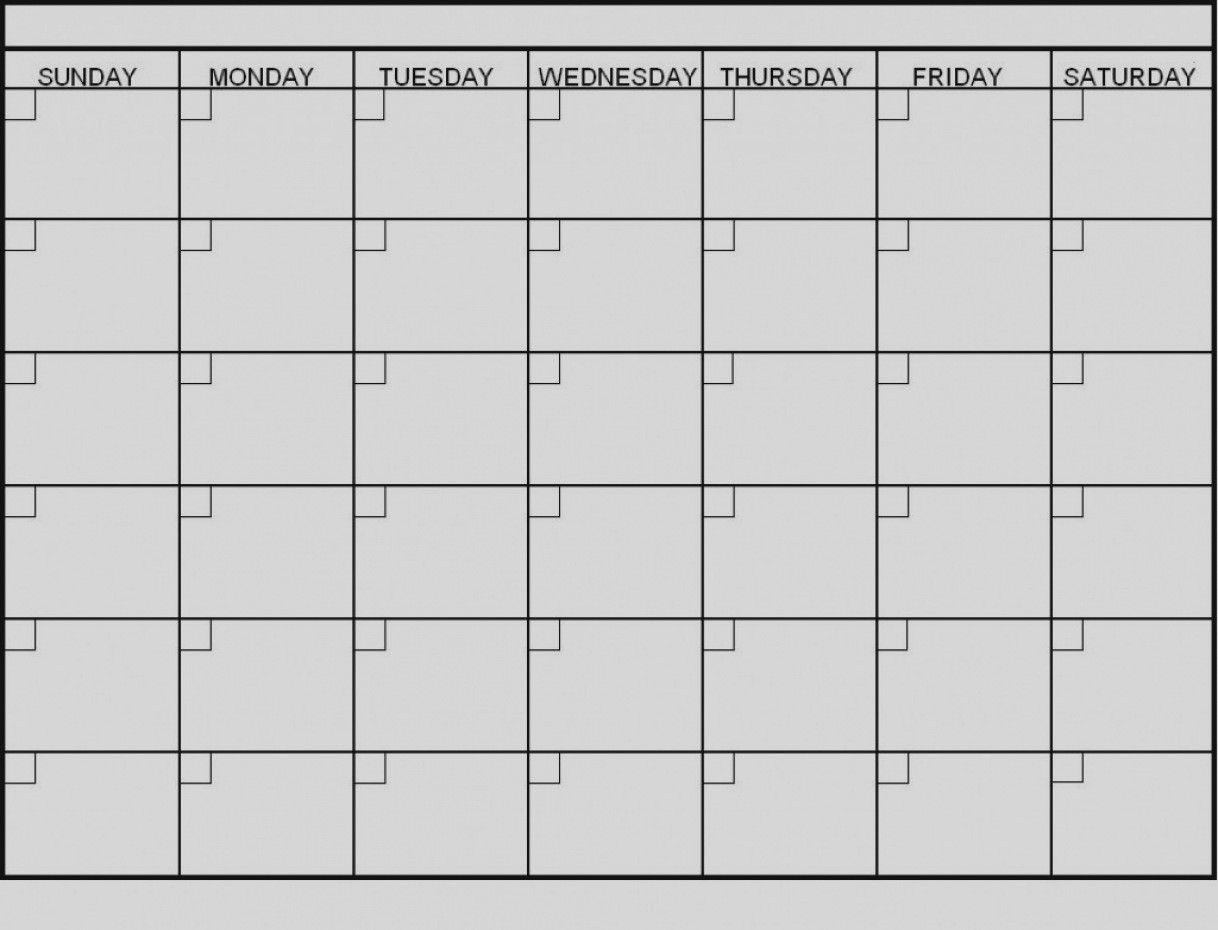 Pick Blank 6 Week Calendar Template