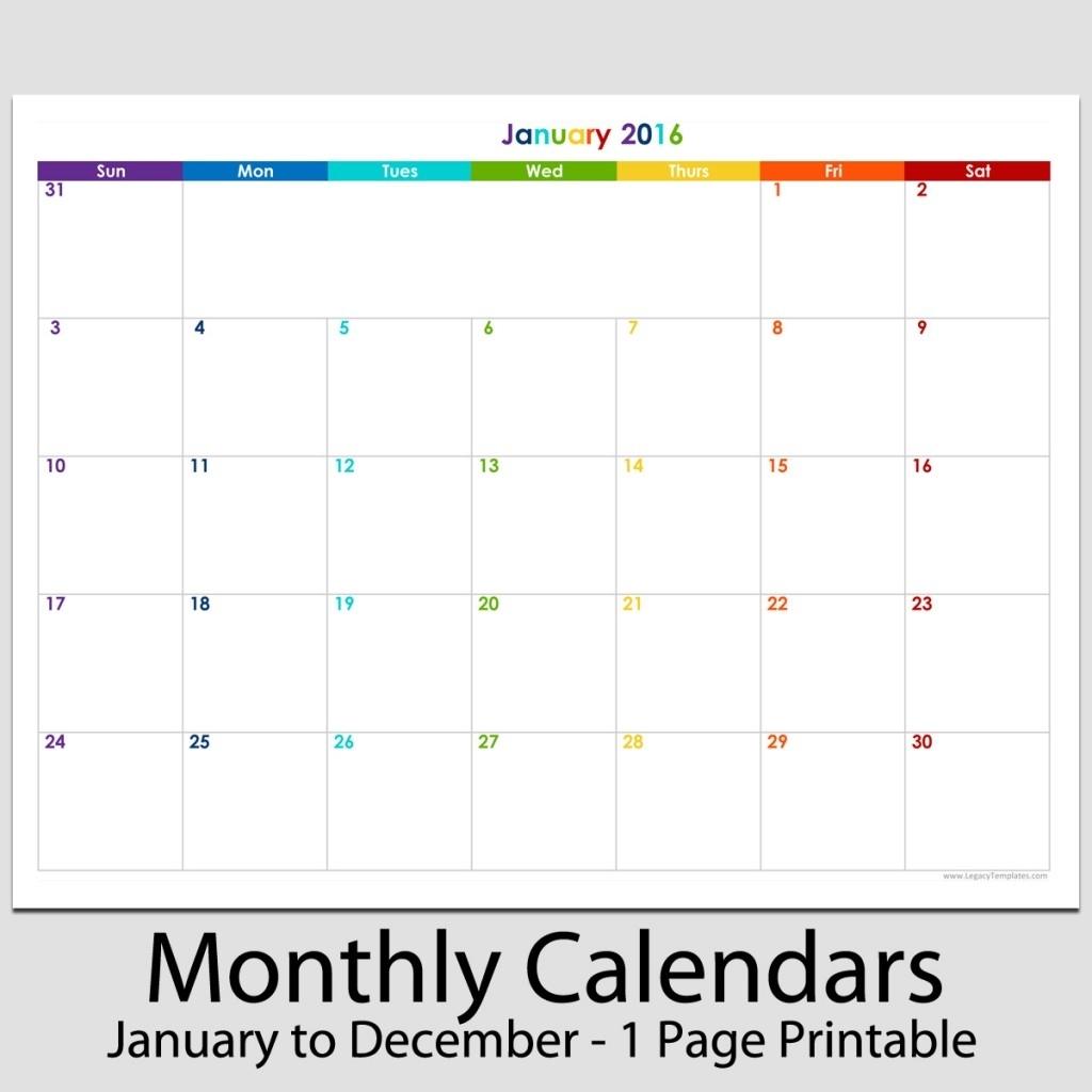 Pick Blank 8.5 X 11 Calendars
