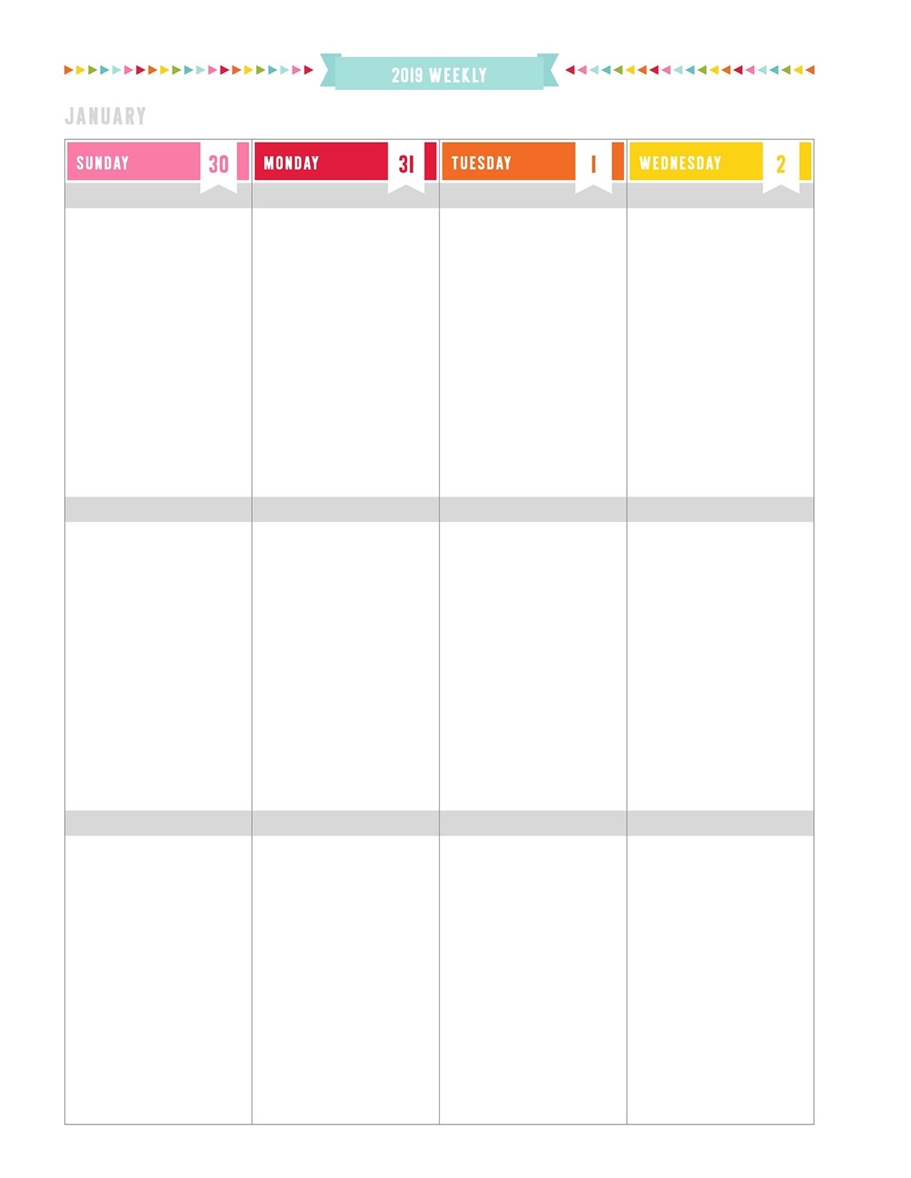 Pick Blank Bi Weekly Calendar