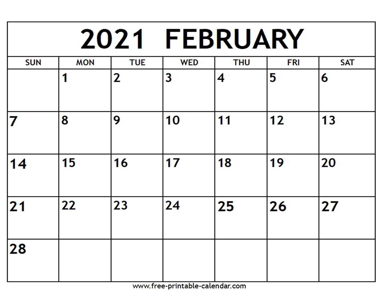 Pick Blank Calendar 2021