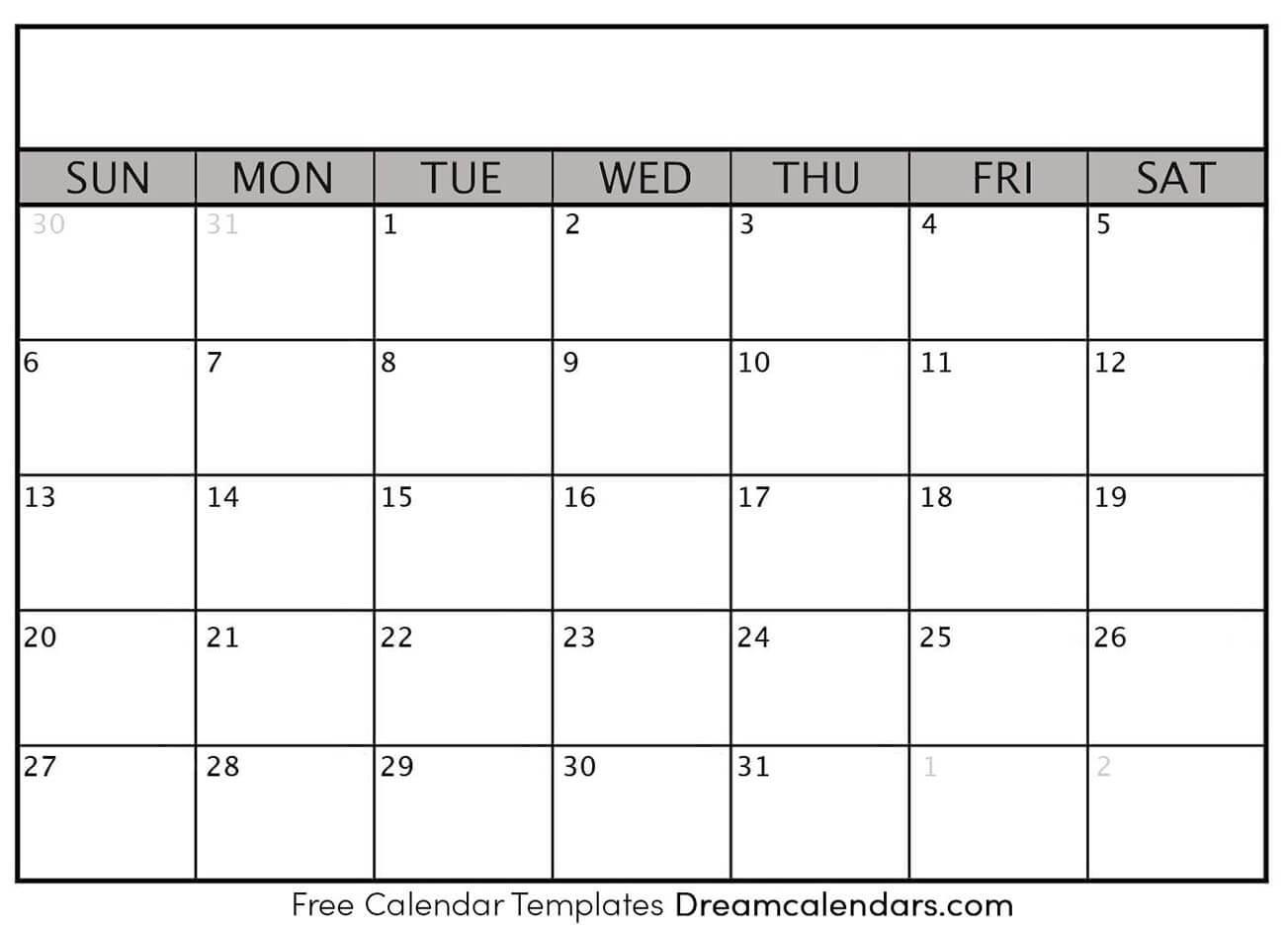 Pick Blank Calendar To Fill In