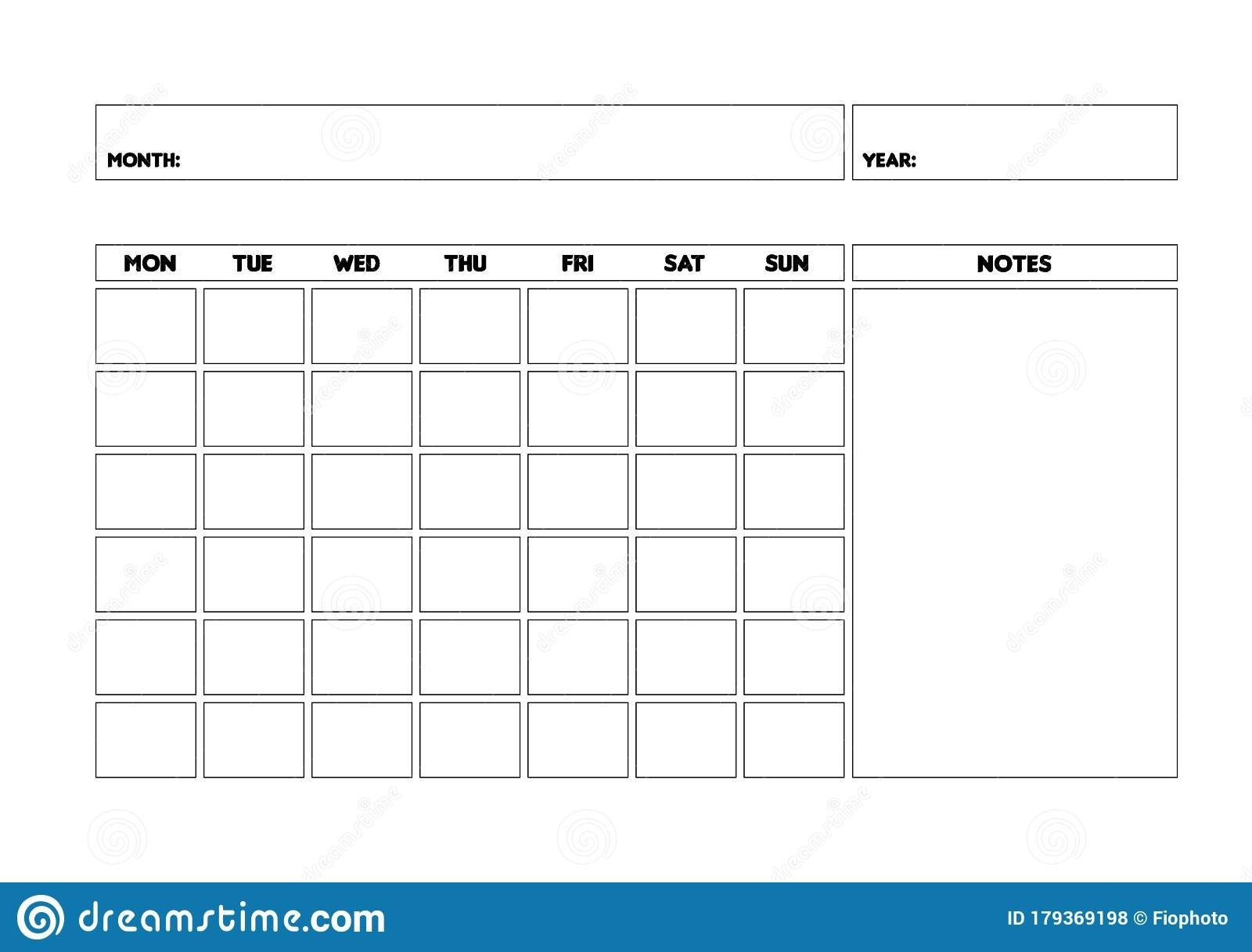 Pick Blank Monthly Calender Calender