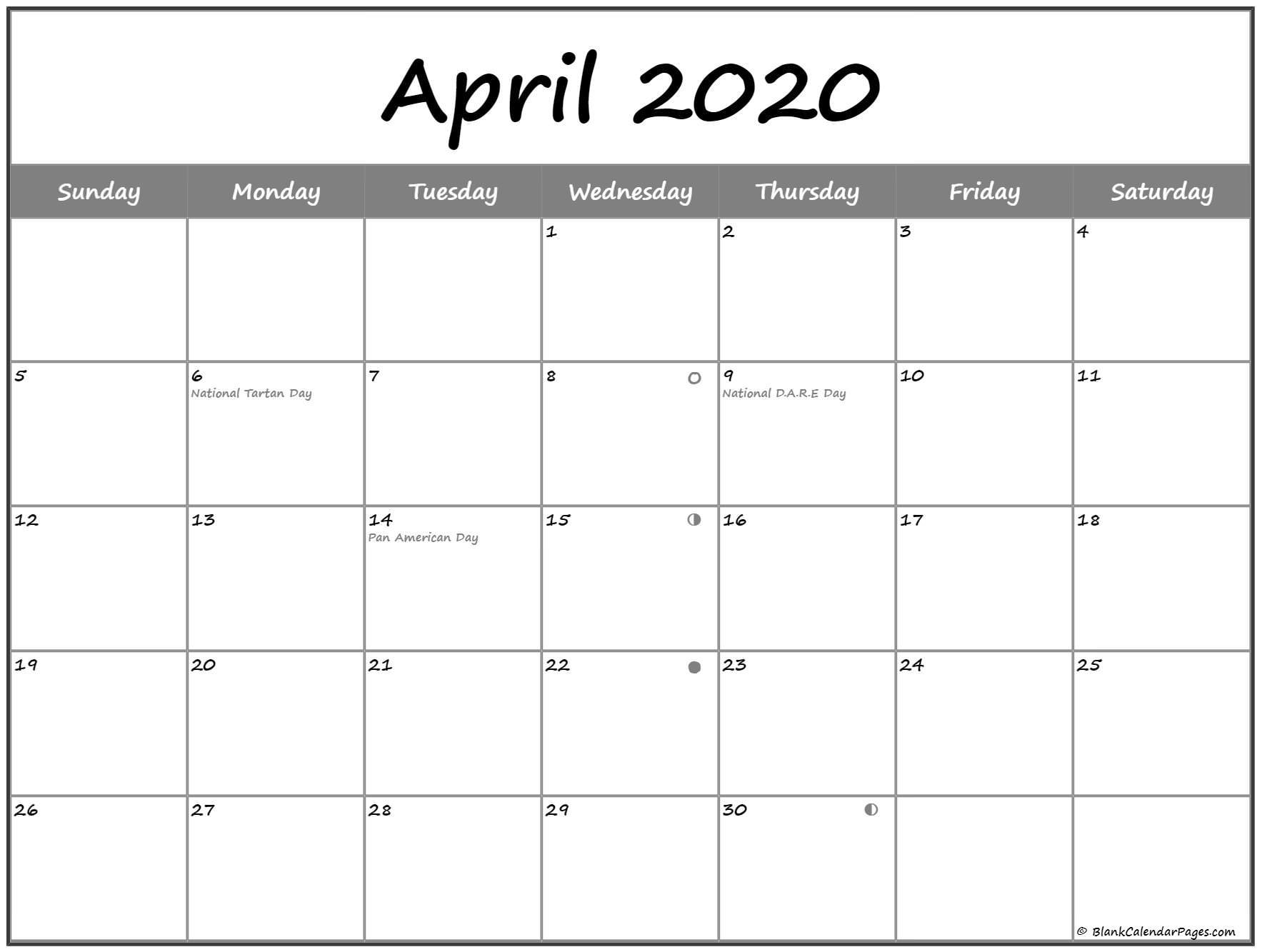 Pick Blank Moon Phase Calendar For Kids
